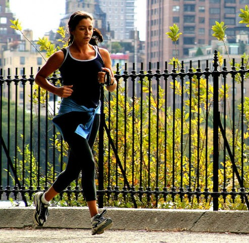 Mulher a correr